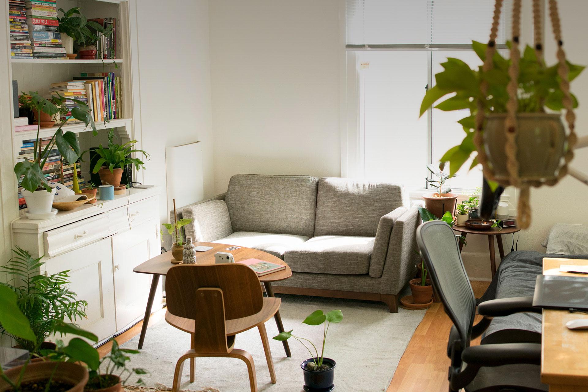 Inside an apartment